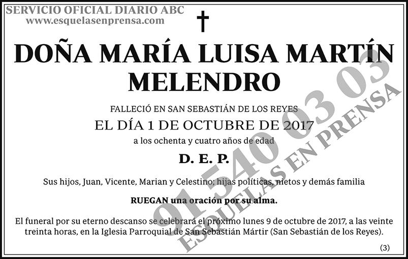 María Luisa Martín Melendro